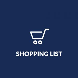 shopping list graphic